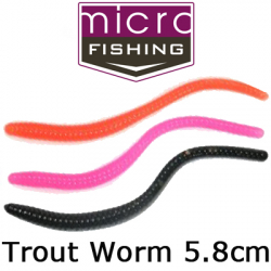 MicroFishing Trout Worm 2,25""