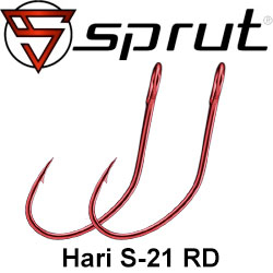 Sprut Hari S-21 RD (Single Bait Hook Red)