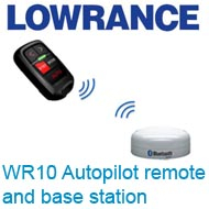 Lowrance WR10 Autopilot remote and base station