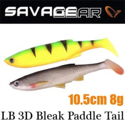 Savagear LB 3D Bleak Paddle Tail 10.5 8g 5pcs