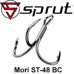 Sprut Mori ST-48 BC (Treble Wide Gap Twisted Hook 2x Strong)
