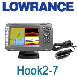 Lowrance Hook2-7 Splitshot Us Coastal/Row