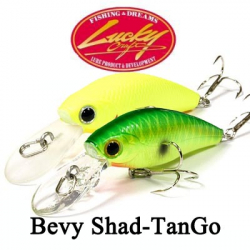 Lucky Craft Bevy Shad~TanGo~45SP