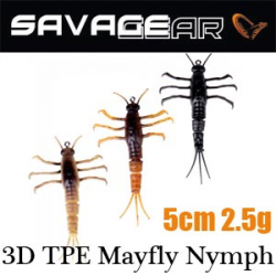 Savage Gear 3D TPE Mayfly Nymph 5 2.5g