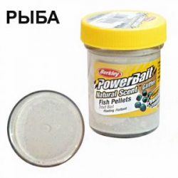 Паста форелевая Berkley Powerbait Dough Natural Scent FISH PELLET - WHITE