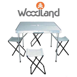 Woodland Picnic Table Set Luxe