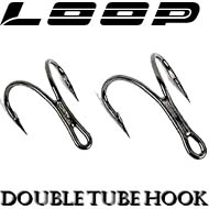 Loop Black Nickel Double Tube Hook