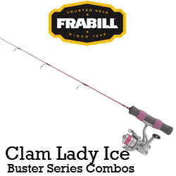 Frabill Clam Lady Ice Buster Series Combos (удочка + катушка)