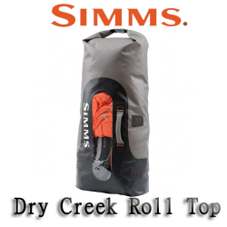 Simms Dry Creek Roll Top Bag Greystone