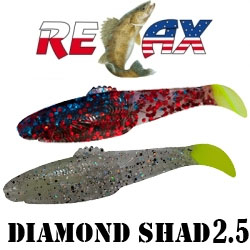 "Relax Diamond Shad 2.5"" 6.2см"