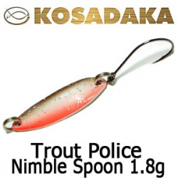 Kosadaka Trout Police Nimble Spoon 1.8g.
