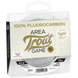 Леска Lucky John Area Trout Game Fluorocarbon Pink 075/025