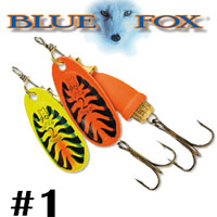 Blue Fox Vibrax Fluorescent #1 (BFF1)