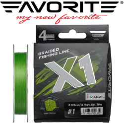 Favorite X1 PE 4x 150m (light green)
