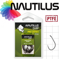 Nautilus Pro Series Wide Gape Hook PTFE