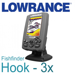 Lowrance Hook-3x Fishfinder with 83/200