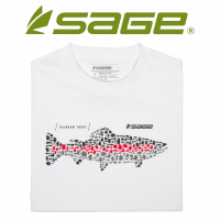 Sage 7571 Brook Trout Logo Tee