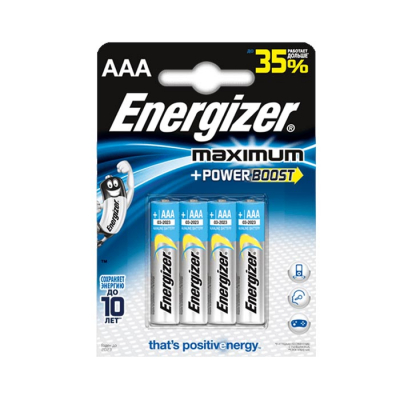 Батарейки Energizer Maximum LR03/E92 AAA 4шт 1.5V