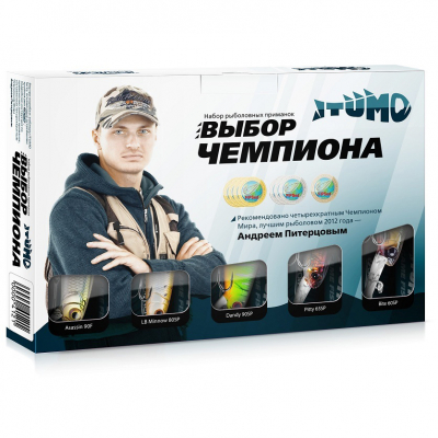 "Воблеры Itumo ""Выбор чемпиона"" (Assassin, LB Minnow, Dandy, Pitty, Bite) SET-IT5"