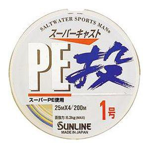 Шнур плетеный Sunline Super Cast Nage PE 200m - 0.128mm