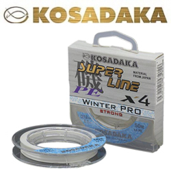 Kosadaka Super Line PE X4 Winter Pro Прозрачный 50м