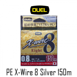 Duel PE X-Wire 8 Silver 150m