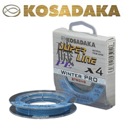 Kosadaka Super Line PE X4 Winter Pro Голубой 50м