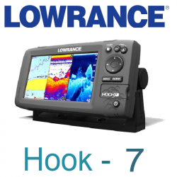 Lowrance Hook-7 Mid/High/DownScan
