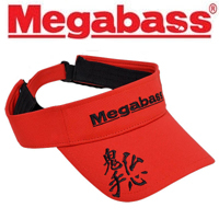 Megabass Sun Visor Red/Black