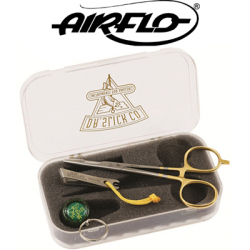 "Airflo Nipper/Reel + 5 1/2"" Gold Scissor Clamp In Fly Box"