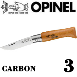 Opinel №3 VRN Carbon Tradition